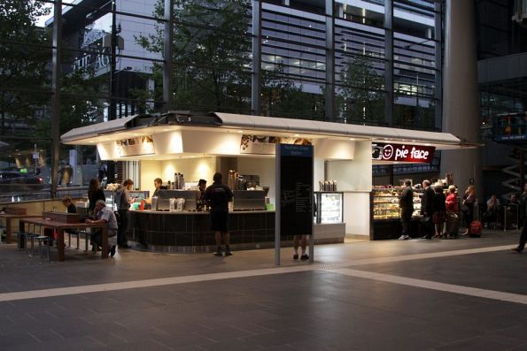 More shops on the Collins Street concourse: at least these ones aren't in the way!
