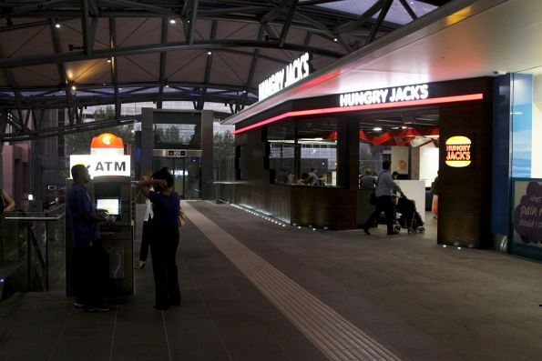 Hungry Jacks on the Collins Street concourse now open