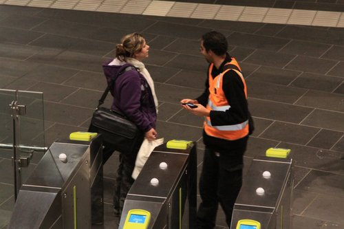 'The next train to Geelong?' 'Sorry, you want the guy in the V/Line vest. I'm just a contractor'