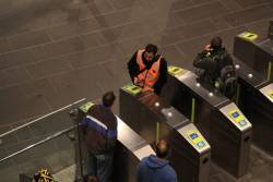 'Where do I buy a ticket?' Sorry, you'll need to find one of the V/Line guys hiding over there'
