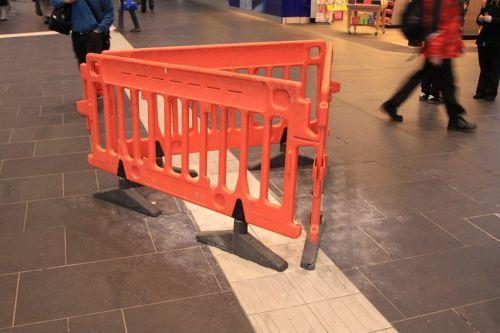Still more tactile paving needing repair at Southern Cross