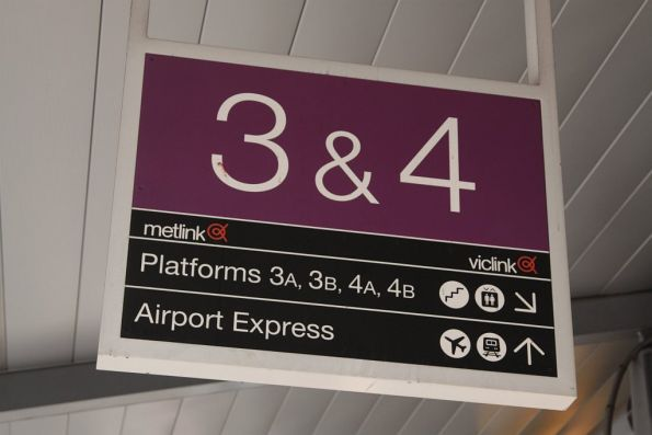 'Airport Express' sign at Southern Cross Station