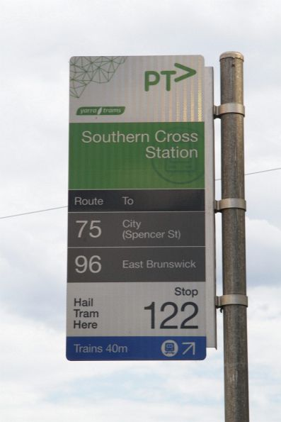 Come next week, the route 75 tram won't serve Southern Cross Station