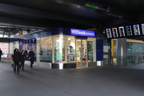 New 'WHSmith' convenience store on the Bourke Street bridge