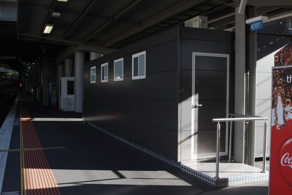 New Metro drivers facilities at the Bourke Street end of platform 7 and 8