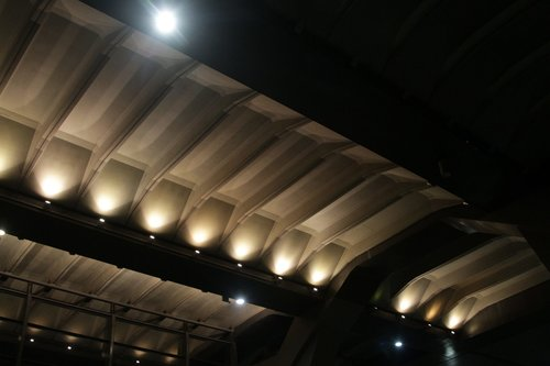 Ceiling lights at the north end of platform 13 and 14 still working