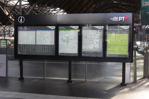 PTV 'iHub' in place on the country concourse at Southern Cross Station