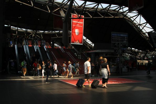 Sunbeam shines down into Southern Cross Station