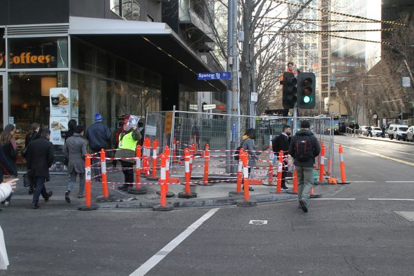 Widening the footpath outside Southern Cross Station at the north-east corner of Spencer and Collins Street