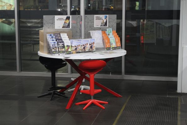 Selection of flyers at the PTV hub