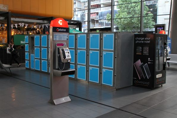 Coin operated lockers on the Spencer Street concourse at Southern Cross Station