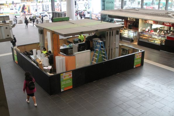 Boost Juice bar being renovated at Southern Cross Station