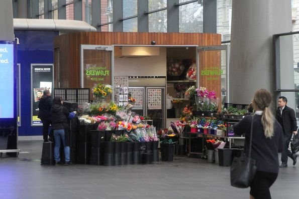 Florist on the main concourse at Southern Cross Station