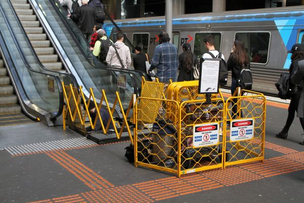 Scheduled maintenance for the escalator serving platform 11 and 12