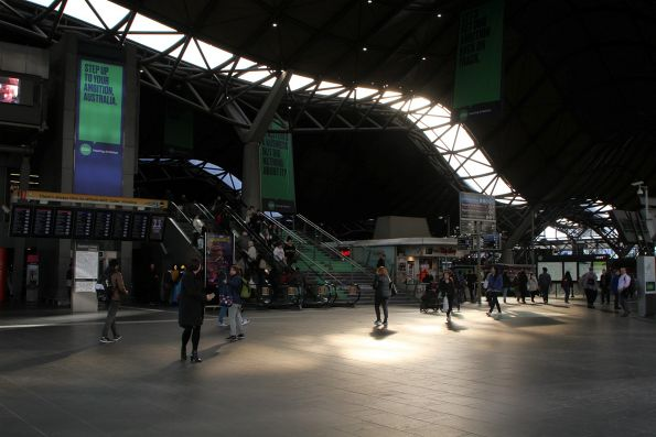 Afternoon sun at Southern Cross Station