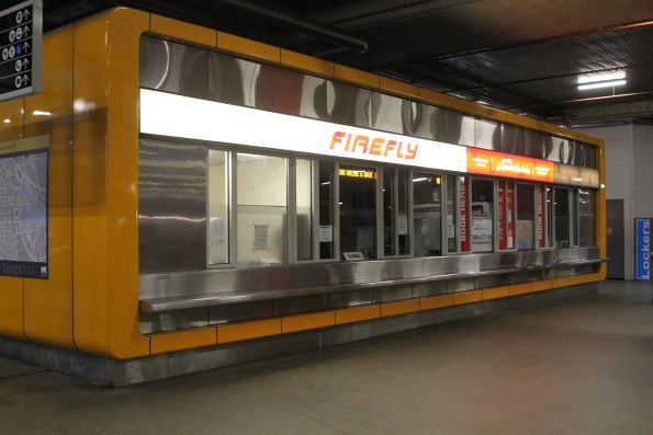 Firefly and Greyhound Australia ticket counters closed for the night