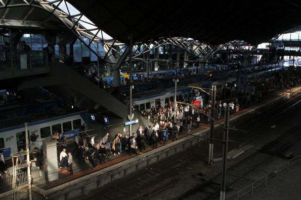 Morning sun at Southern Cross Station