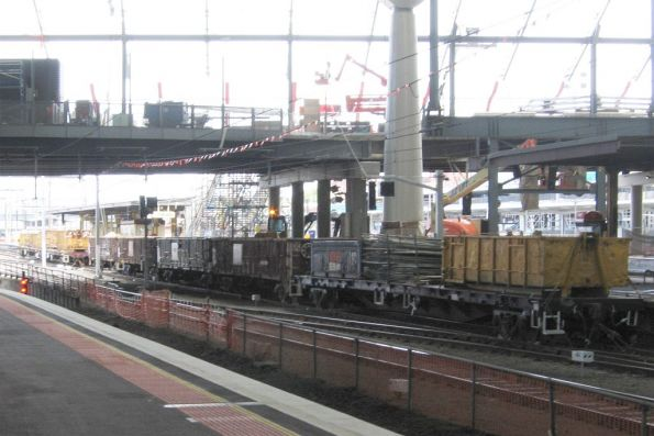 Southern Cross Station works trains