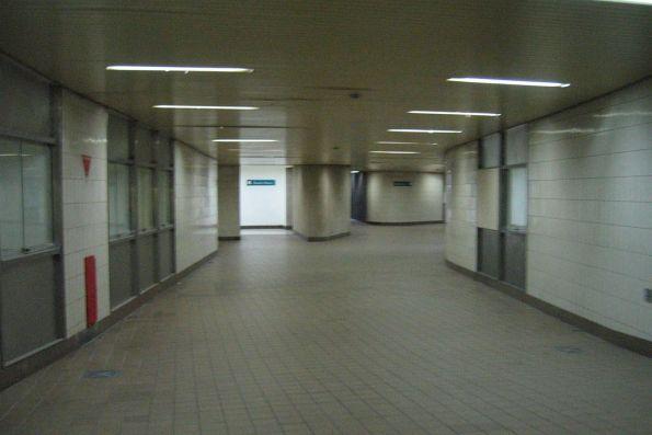 Subway under Spencer Street itself, looking east