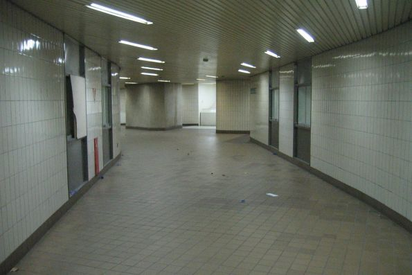Subway under Spencer Street, looking back to the station itself
