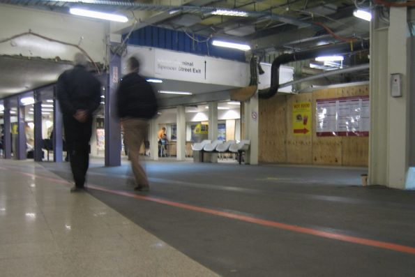 Old subway to platforms at Spencer Street Station