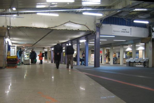 Country section of the subway under the station looking east