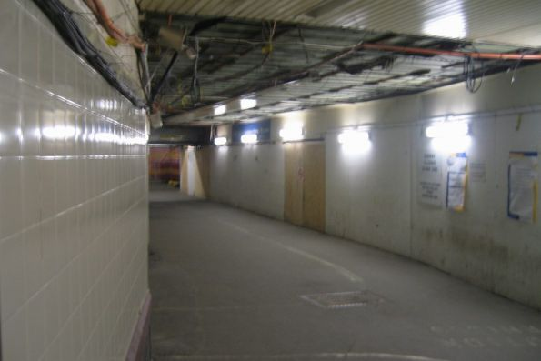 Subway under the suburban platforms, looking east