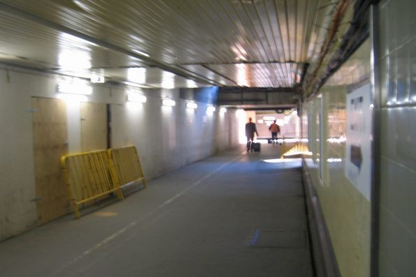 Subway under the suburban platforms, looking west