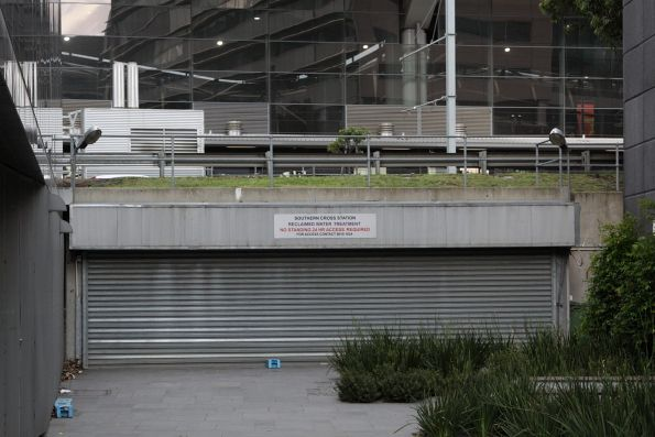 Entry to the Southern Cross Station reclaimed water treatment facility