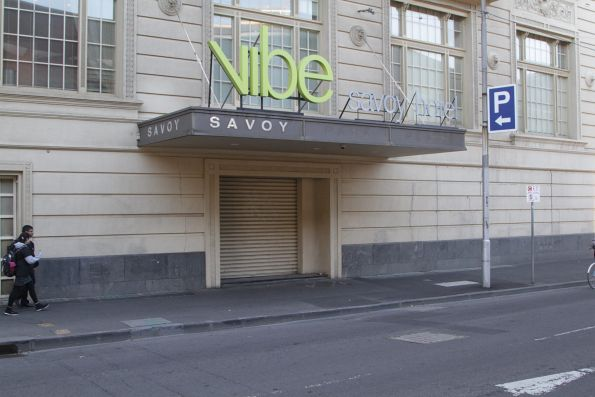 Former Spencer Street Station subway entrance via the Savoy Hotel on Spencer Street