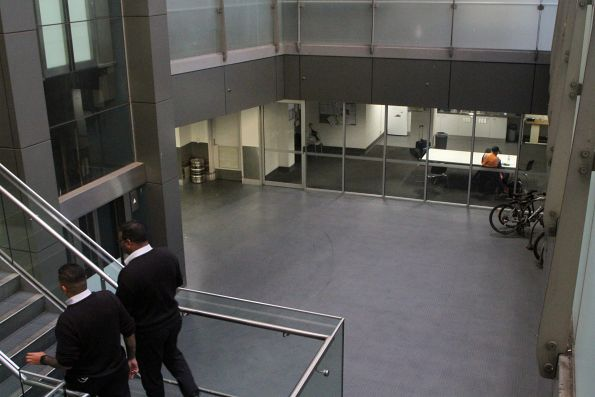 Staff offices in the basement at Southern Cross Station