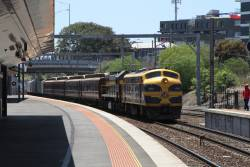 B74 leads X31 on the down through Footscray