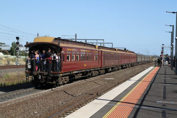 Saturday, 17 November - 'Yarra' parlor car at the rear of the train