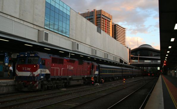 The train at Southern Cross