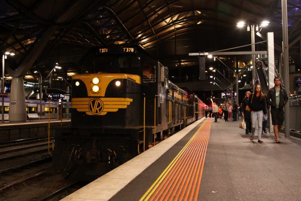 T378 and T357 arrive into Southern Cross with the train