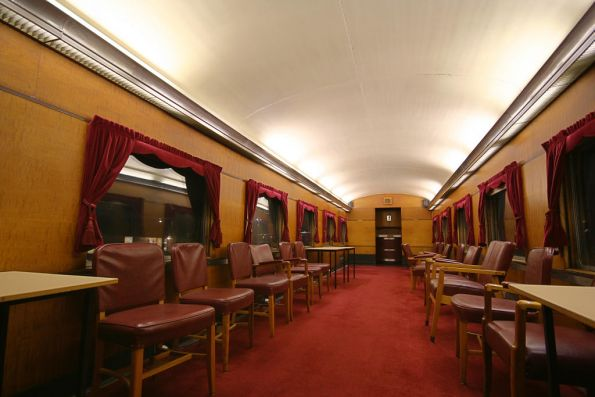 Inside of Dining Car