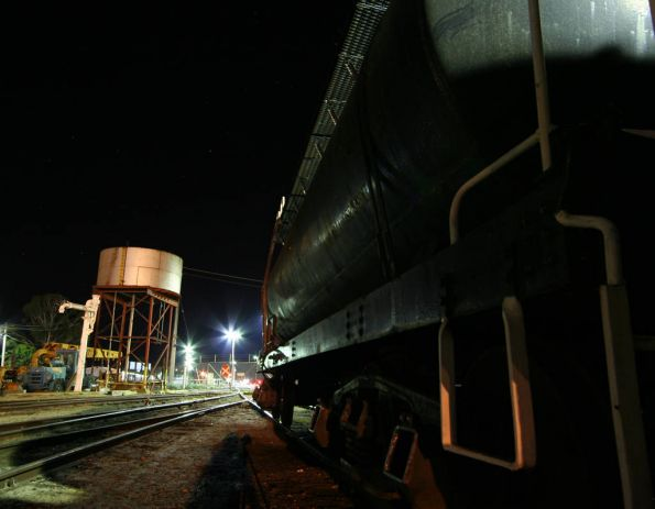 Night at the SRHC depot