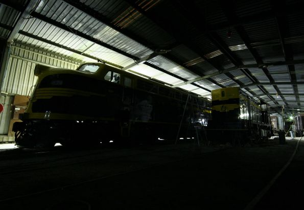 B and T class in the shed at the SRHC depot