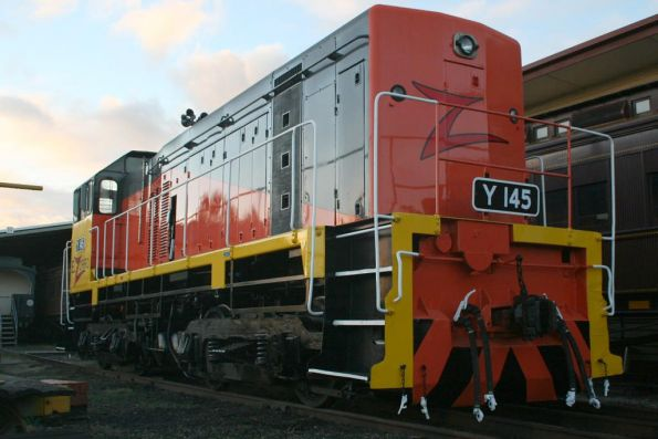 El Zorro liveried Y145 at Seymour