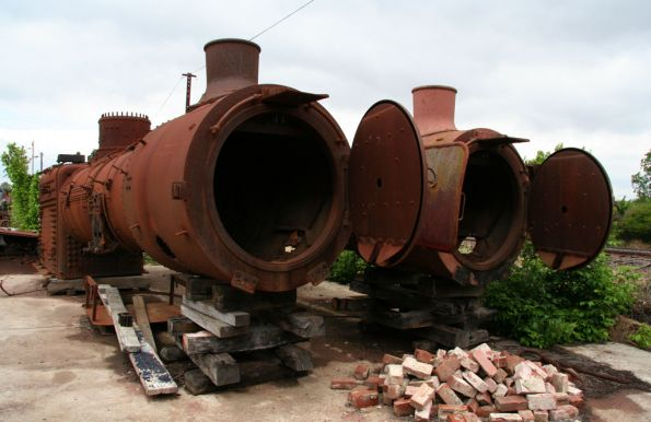 J class boilers stored at Seymour Loco