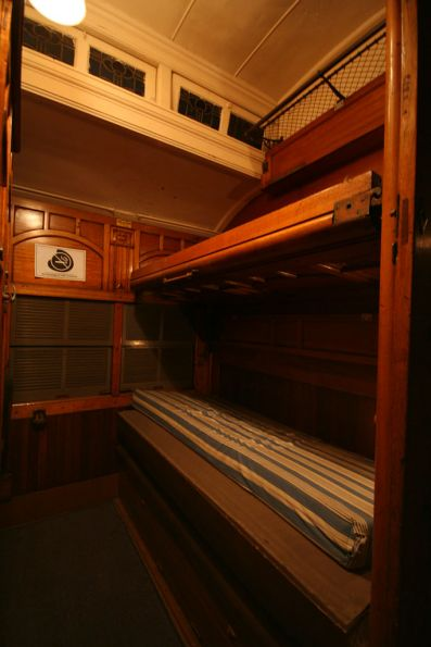 Sleeping compartment of 'Acheron' in the night position