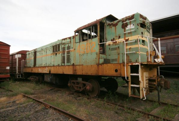 Stored NSW 4902 in green and yellow livery