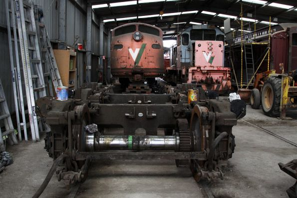 Bogie for S310 in front of the loco