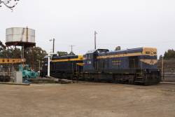 Steamrail Victoria's T356 and T364 stabled at Seymour, after running a SRHC train to Tocumwal the day before