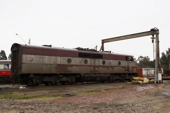 The crappy looking side of GM36, stabled beside the Seymour turntable