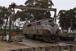 GM36 stabled beside the Seymour turntable