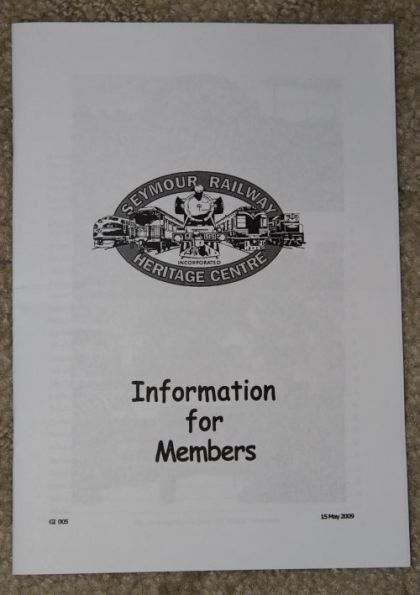 SRHC 'Information for Members' booklet dated May 2009