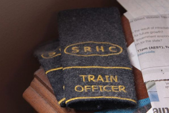 SRHC hasn't run a tour for years - my train officer epaulettes gather dust