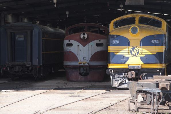 'GM22' ex-Port Pirie sitting in the shed at Seymour