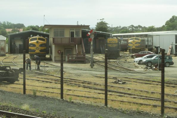 B74, T357 and S303 stabled in the depot